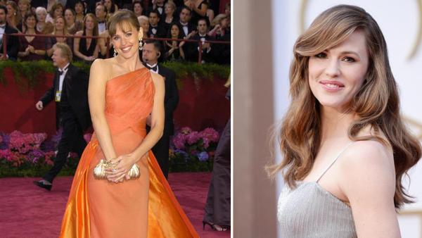 Jennifer Garner appears at the 2004 Oscars on Feb. 29, 2004 and at the 2014 Oscars on March 2, 2014, in Los Angeles. - Provided courtesy of Lionel Hahn / Abacausa / Kyle Rover / Startraksphoto.com