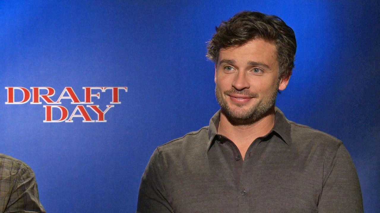 Tom Welling appears in a junket interview for Draft Day on March 30, 2014.