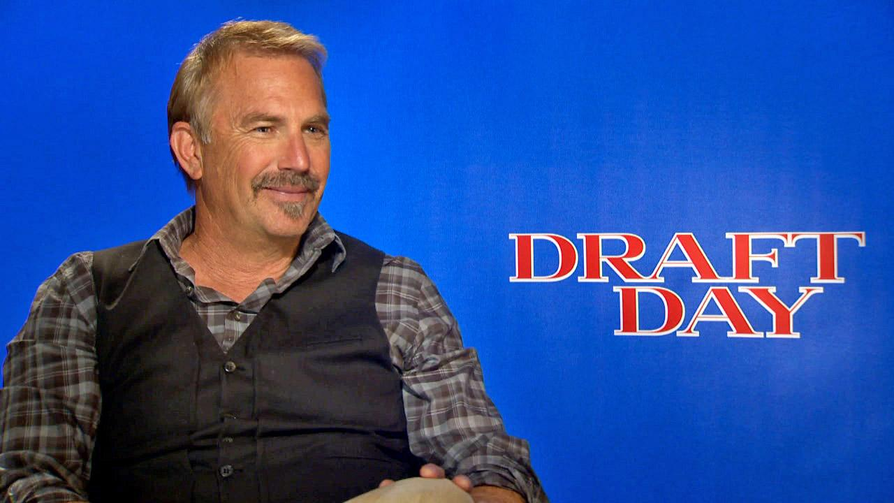 Kevin Costner appears in a junket interview with OTRC.com for Draft Day on March 30, 2014.