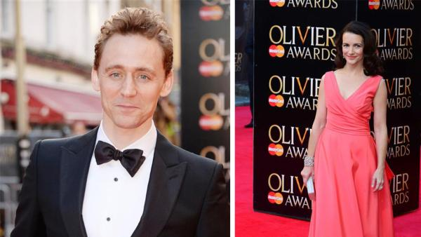 Tom Hiddleston of Thor fame (he plays Loki) and Kristin Davis (Sex and the City) appear at the 2014 Laurence Olivier Awards in London on April 13, 2014. - Provided courtesy of OTRC / Richard Young / Rex / Nils Jorgensen / Startraksphoto.com