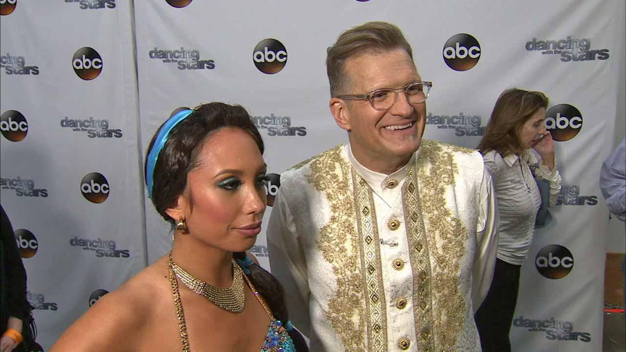 Drew Carey and Cheryl Burke talk to OTRC.com after week 5 on Dancing With The Stars season 18 on April 14, 2014.