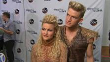 Cody Simpson and Witney Carson talk to OTRC.com after week 5 on Dancing With The Stars season 18 on April 14, 2014. - Provided courtesy of OTRC