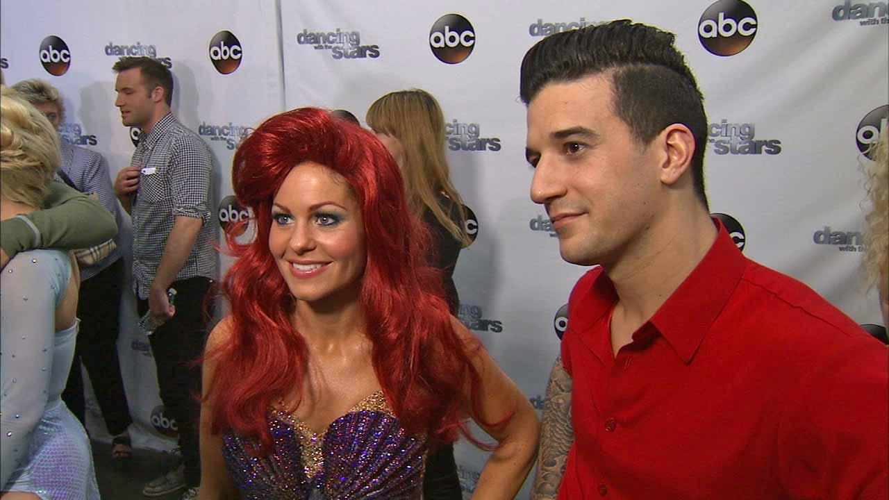 Candace Cameron Bure and Mark Ballas talk to OTRC.com after week 5 on Dancing With The Stars season 18 on April 14, 2014.