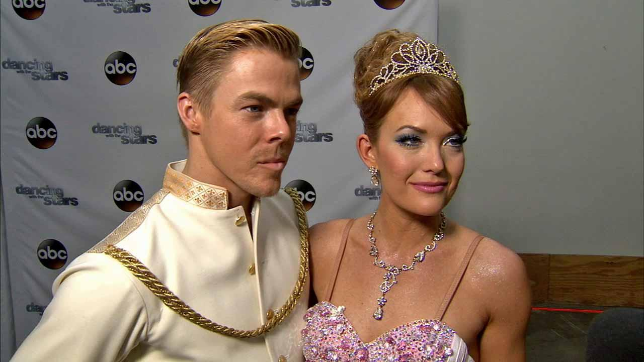Amy Purdy, Derek Hough talk to OTRC.com after week 5 on Dancing With The Stars season 18 on April 14, 2014.