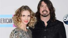 Dave Grohl and wife Jordyn Blum appear at the 2013 American Music Awards in Los Angeles on Nov. 24, 2013. - Provided courtesy of Lionel Hahn / Abacausa / startraksphoto.com
