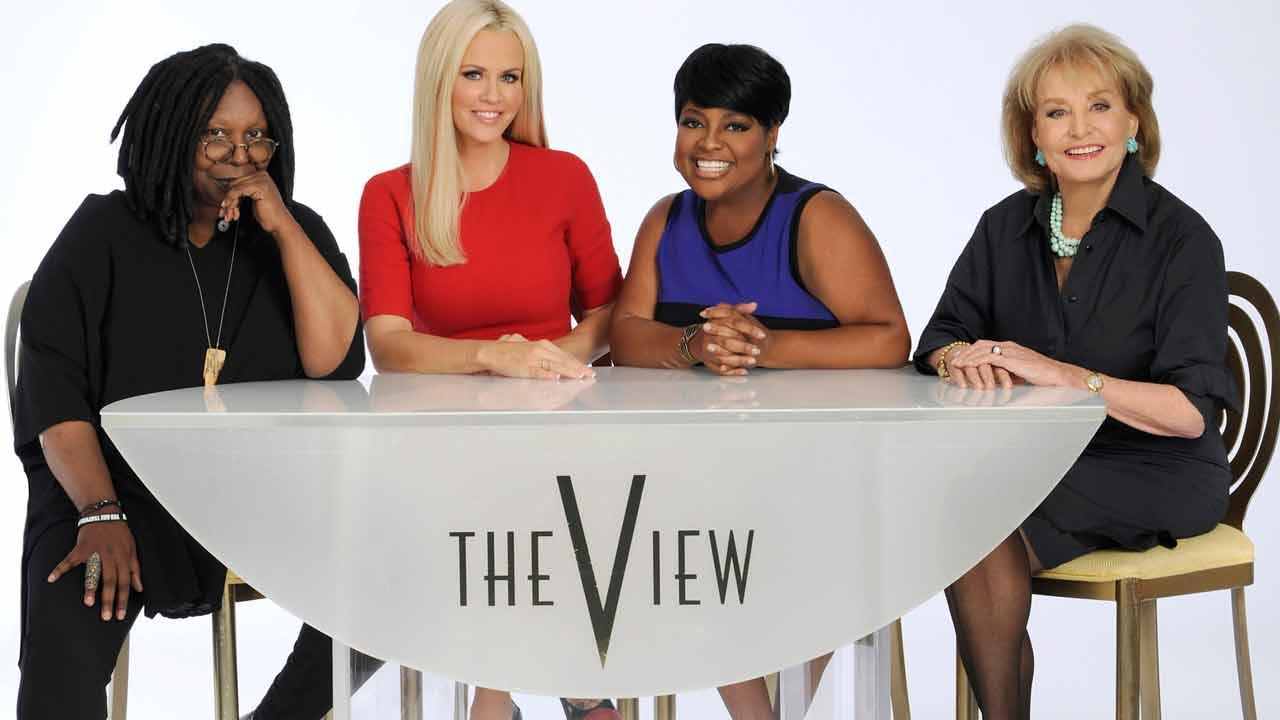 The View co-hosts Whoppi Goldberg, Jenny McCarthy, Sherri Shepherd and Barbara Walters appear in a photo taken for the shows 17th season in 2013.
