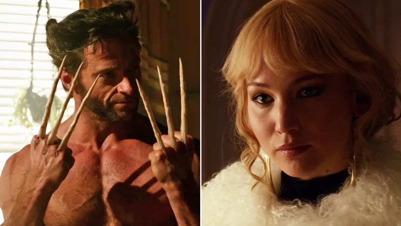 Jennifer Lawrence and Hugh Jackman appears in a trailer for the 2014 film X-Men: Days of Future Past.