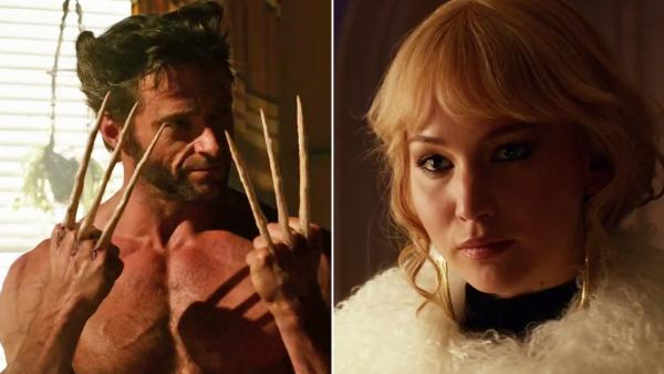 Jennifer Lawrence and Hugh Jackman appears in a trailer for the 2014 film X-Men: Days of Future Past. - Provided courtesy of 20th Century Fox