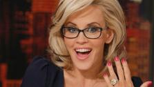 Jenny McCarthy, wearing a yellow sapphire engagement ring, appears on ABCs The View on April 16, 2014. McCarthy, a co-host on the show, announced their engagement that morning. - Provided courtesy of ABC Photo / Heidi Gutman