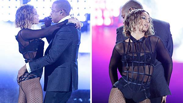 Beyonce and Jay-Z perform together at the 2014 Grammy Awards on Jan. 26, 2014. - Provided courtesy of Cliff Lipson / CBS