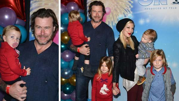 Tori Spelling, Dean McDermott and their children appear at Disney on Ice present Rockin' Ever After in Los Angeles, California on Dec. 12, 2013.