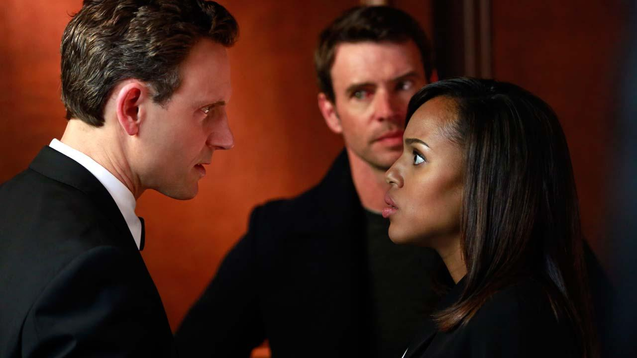 Kerry Washington, Tony Goldwyn and Scott Foley appear in the Scandal season 3 finale, which aired on April 17, 2014.