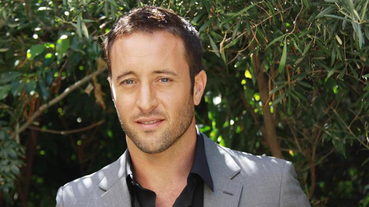 Alex OLoughlin appears at a press conference for Hawaii Five-0 in Beverly Hills, California on Sept. 23, 2013. He and Malia Jones, mother of his second child, wed in April 2014.