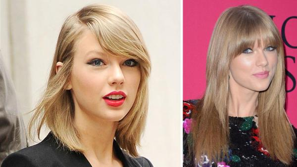 Taylor Swift is seen leaving her New York apartment on April 17, 2014 and walking the pink carpet at the 2013 3 2013 Victoria's Secret Fashion Show in New York on Nov. 13, 2013.