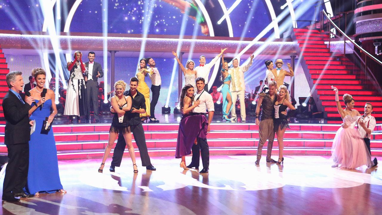 The cast of Dancing With The Stars season 18 appear during week 5 on April 14, 2014.