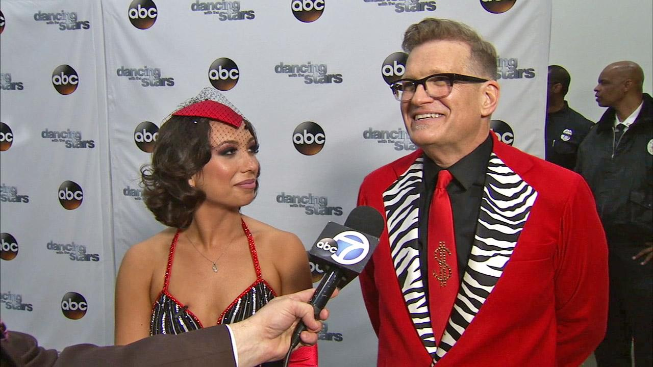Drew Carey and Cheryl Burke talk to OTRC.com after week 6 on Dancing With The Stars season 18 on April 21, 2014.