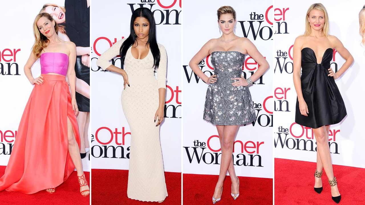 Leslie Mann, Nicki Minaj, Cameron Diaz and Kate Upton appear at the Los Angeles premiere of The Other Woman on April 21, 2014.