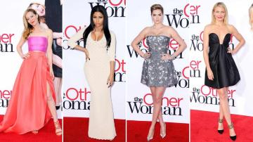 Leslie Mann, Nicki Minaj, Cameron Diaz and Kate Upton appear at the Los Angeles premiere of The Other Woman on April 21, 2014. - Provided courtesy of Lionel Hahn / Hollywood Press / startraksphoto.com