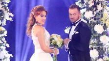 Amy Purdydanced a wedding-themed Jive with Derek hough (not pictured) on week 6 of ABCs Dancing With The Stars on April 21, 2014. - Provided courtesy of ABC Photo / Adam Taylor