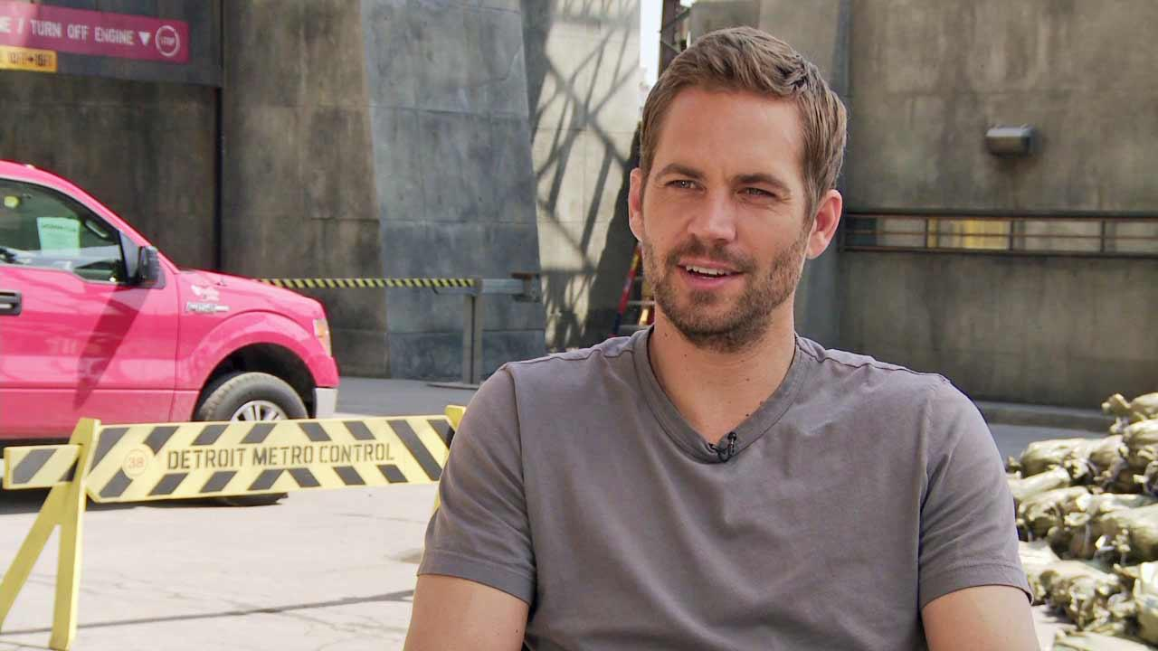 Paul Walker appears in an interview for the 2014 movie Brick Mansions, in theaters on April 25, 2014.