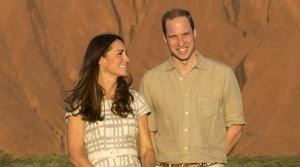 Prince William and Kate Middleton, aka Catherine, Duchess of Cambridge appear during a visit to Uluru, also known as Ayers Rock, in Australia on April 22, 2014. - Provided courtesy of OTRC / Rex Features/Startraksphoto.com