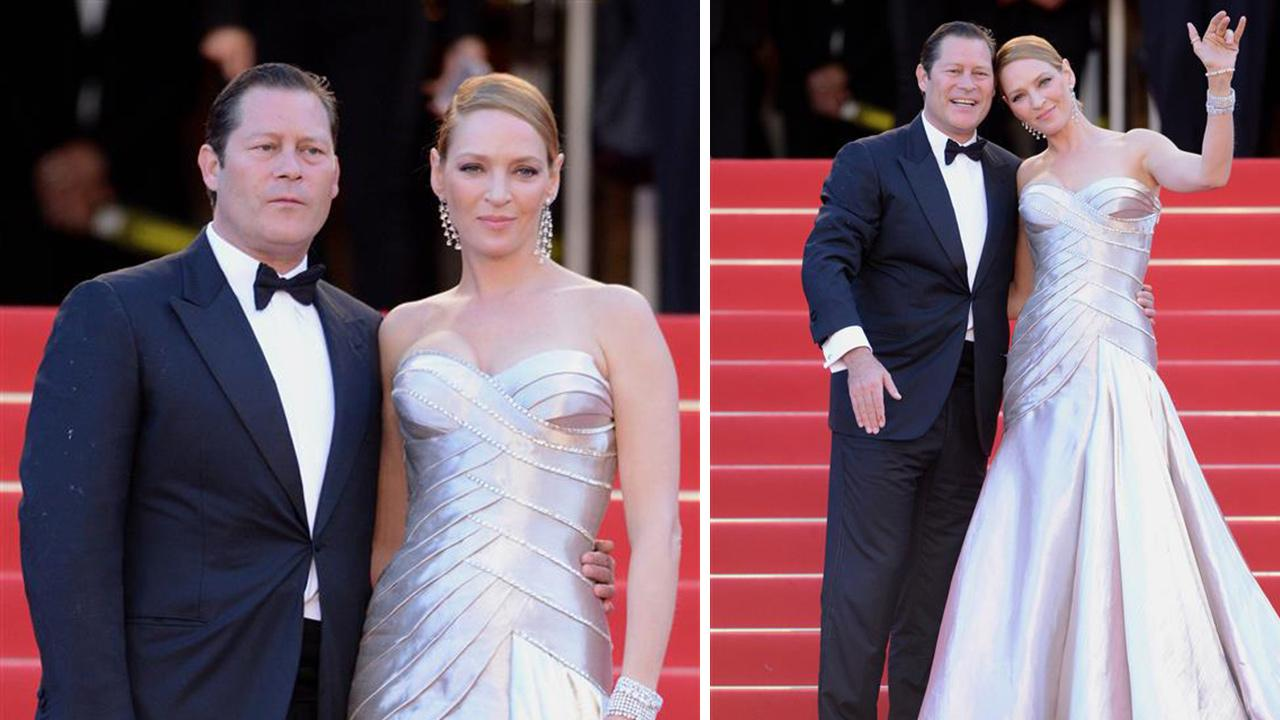 Uma Thurman and Arpad Busson appear at the 2013 Cannes Film Festival in Cannes, France on May 26, 2013. It was reported on April 22, 2014 that the on-again, off-again couple, who share a daughter, had called off their engagement.