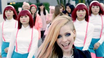 Avril Lavgine appears in her 2014 music video Hello Kitty with background dancers. The singer has denied accusations that the clip is racist. - Provided courtesy of Epic Records, a division of Sony Music Entertainment