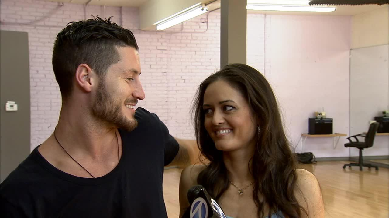 Danica McKellar and Val Chmerkovskiy talk to OTRC.com about their Team Loca dance before Dancing With The Stars week 7 on April 28, 2014.