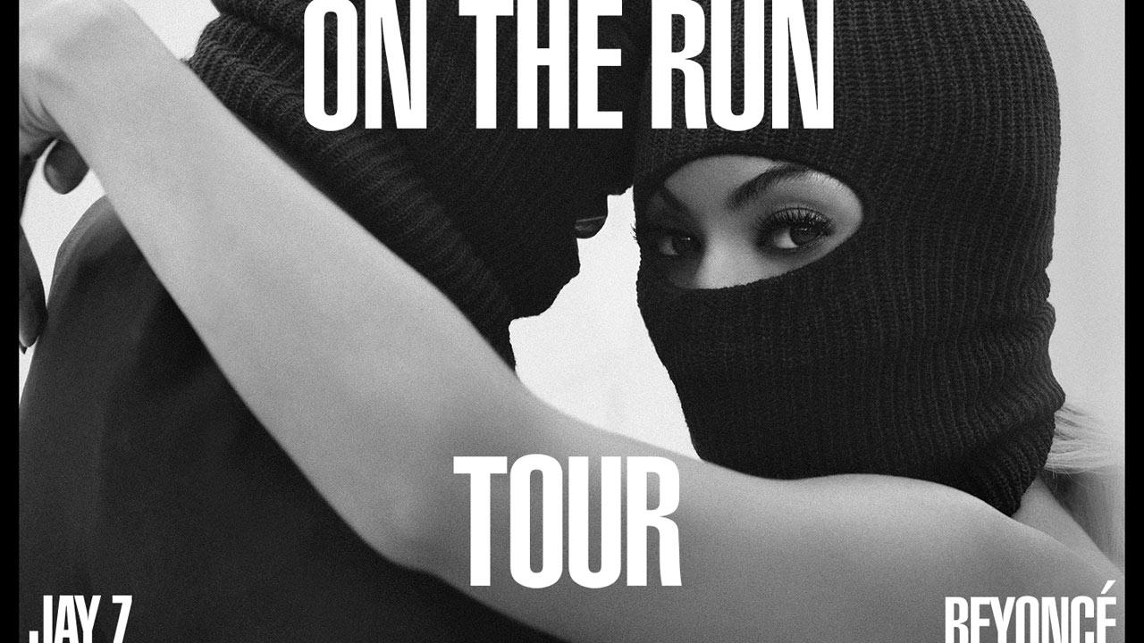 The official publicity photo for Beyonce and Jay-Zs 2014 On The Run tour.