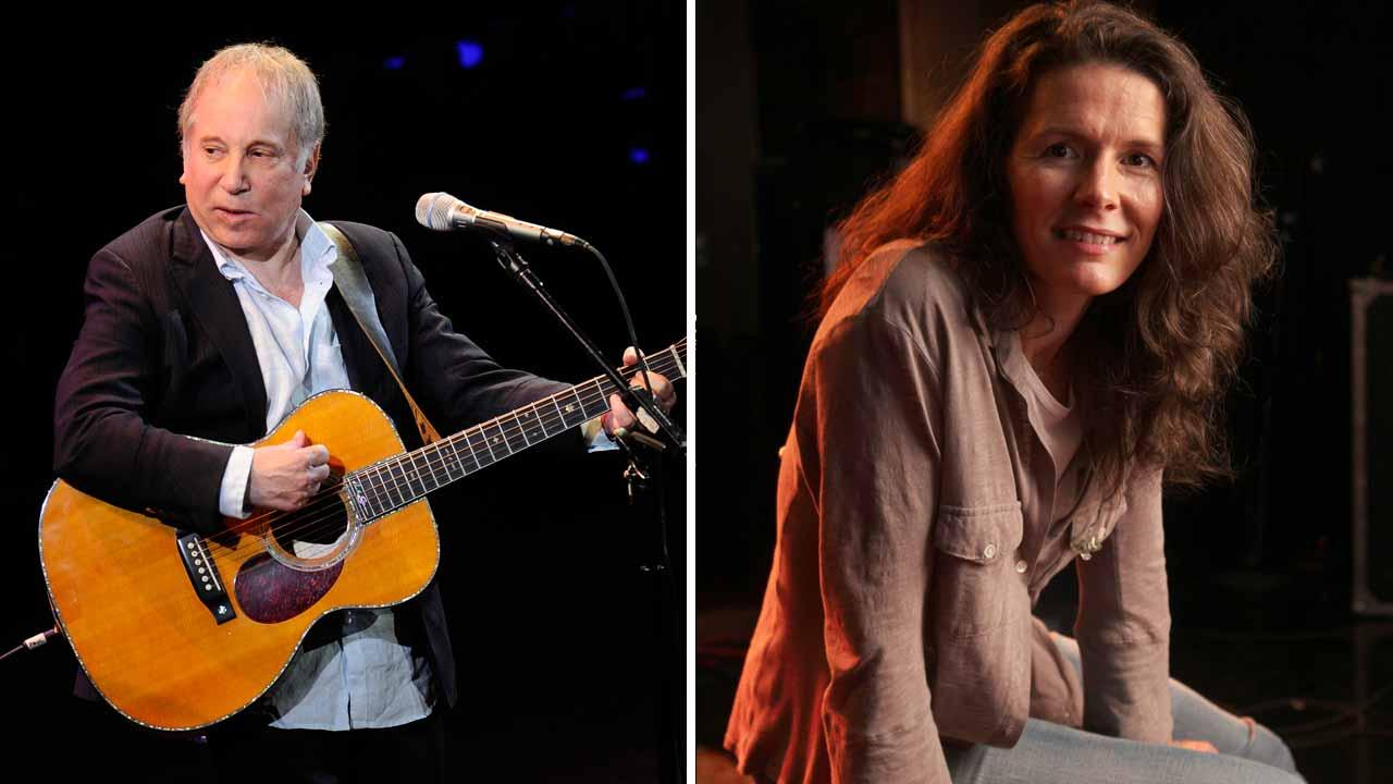 Left - Paul Simon performs at a concert in New York City on April 2, 2012. Right - Edir Brickell appears at a New York City studio on Jan. 26, 2011.