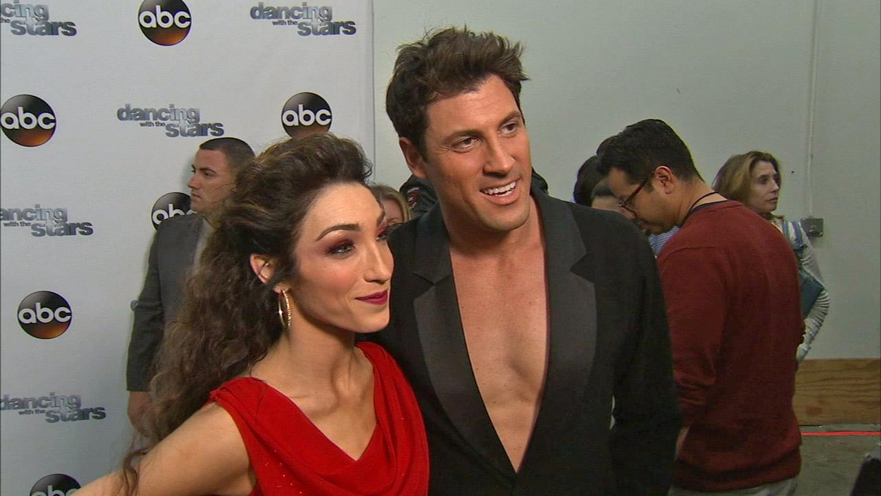 Meryl Davis and Maksim Chmerkovskiy talk to OTRC.com after week 7 on Dancing With The Stars season 18 on April 28, 2014.