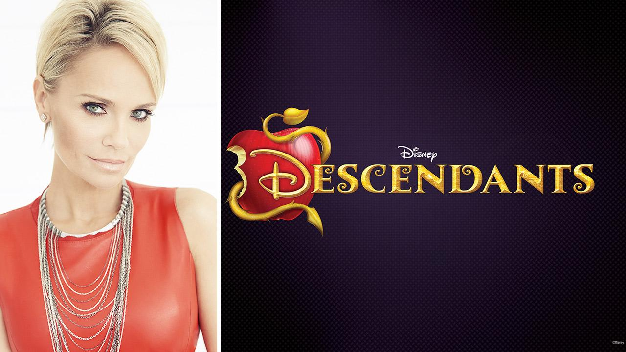 Krsten Chenoweth appears in a headshot. / The official logo for the 2015 Disney Channel Original Movie Descendants. The live-action TV film will feature the children of animated characters from movies such as Beauty and the Beast.