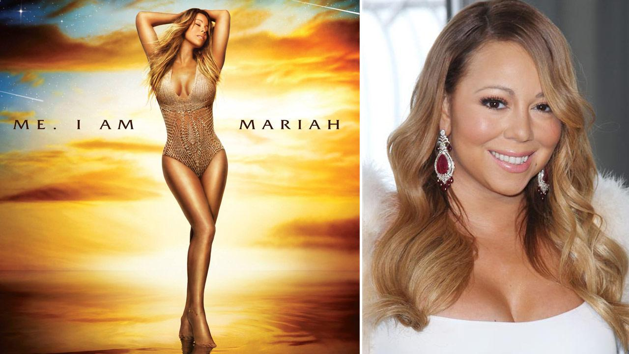Mariah Carey appears on the cover of  of her 14th album Me. I Am Mariah ... The Elusive Chanteuse, which is set for release on May 27, 2014. / Mariah Carey lights the Empire State Building red and pink on Feb. 13, 2014.