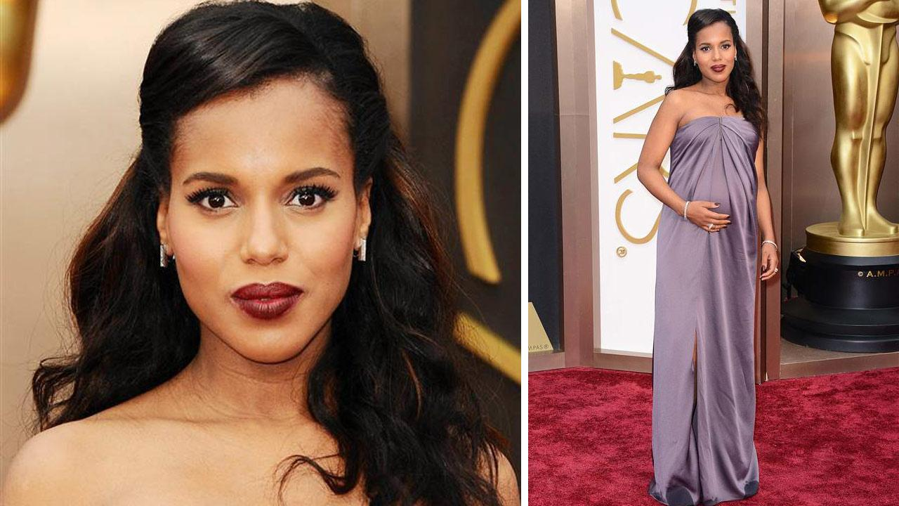 Kerry Washington appears on the red carpet of the Oscars on March 2, 2014.