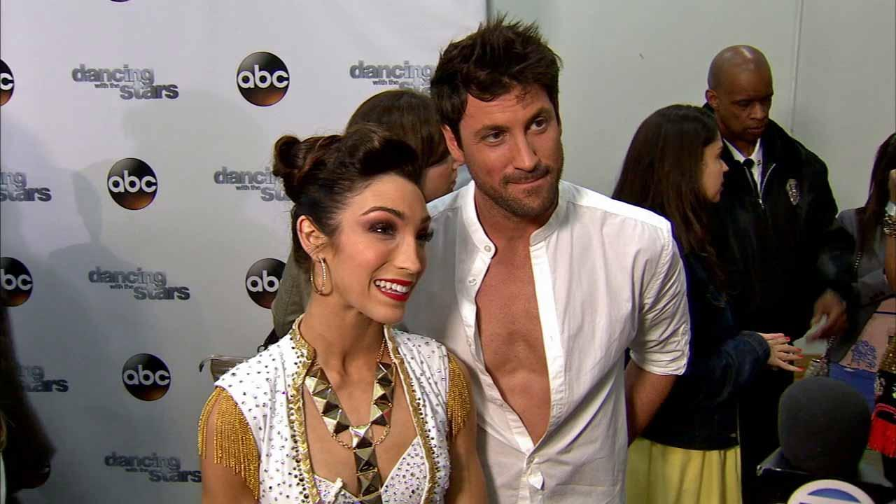 Meryl Davis and Maksim Chmerkovskiy talk to OTRC.com after week 8 on Dancing With The Stars season 18 on May 5, 2014.