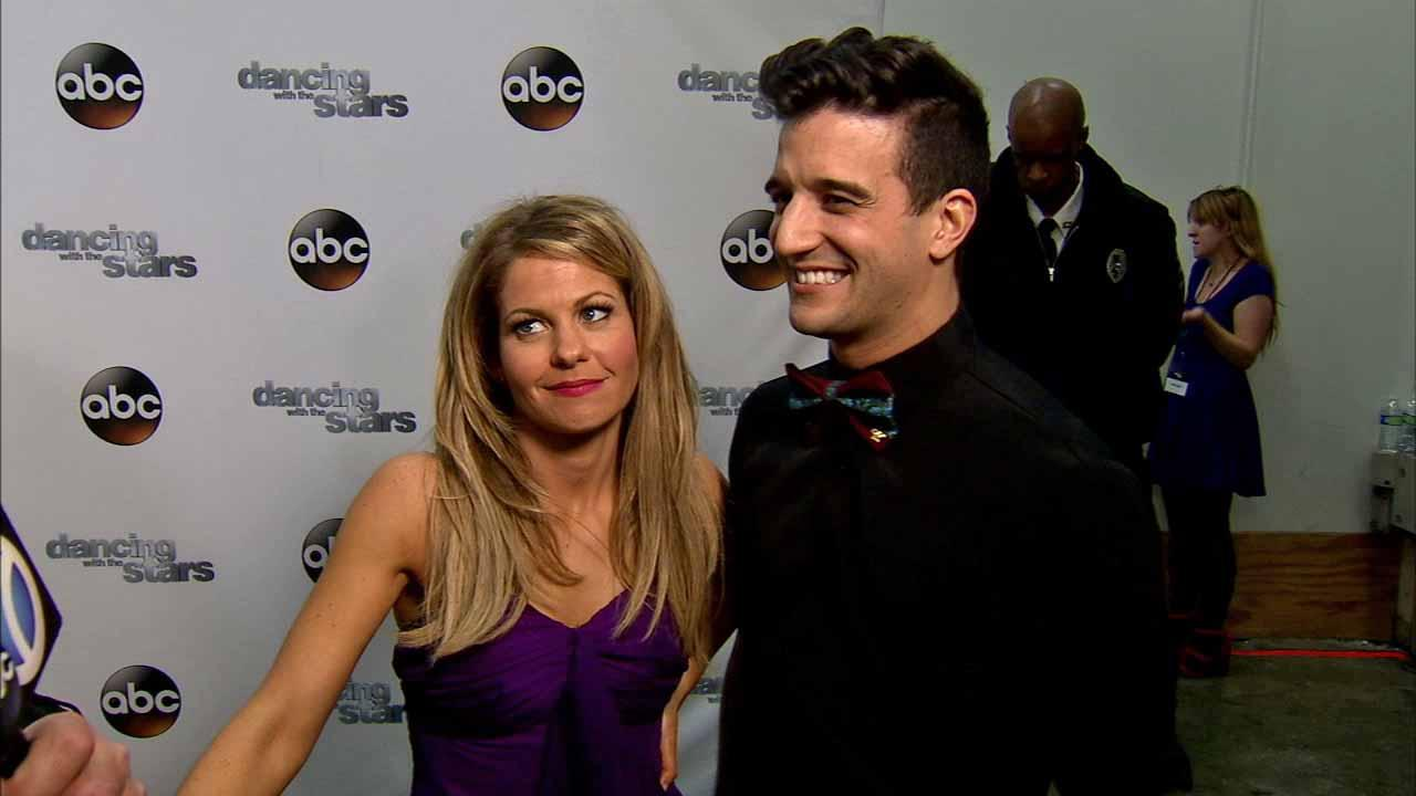 Candace Cameron Bure and Mark Ballas talk to OTRC.com after week 8 on Dancing With The Stars season 18 on May 5, 2014.