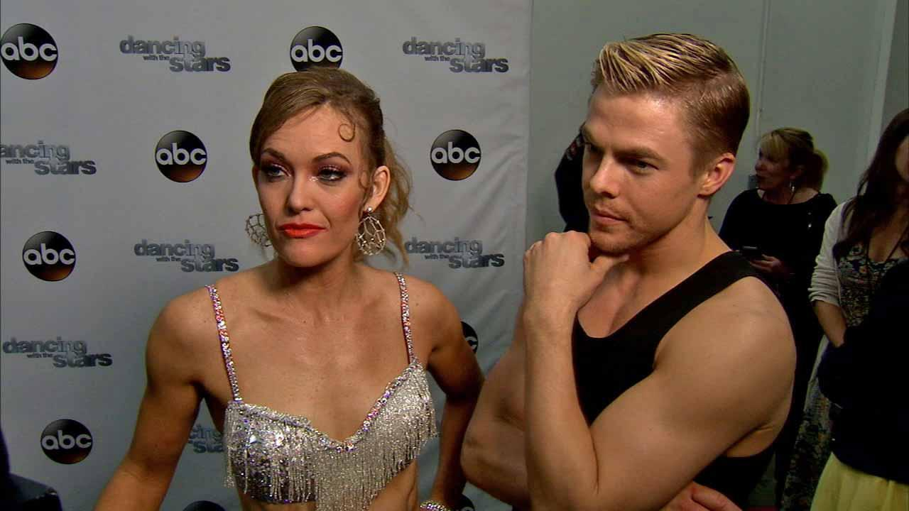 Amy Purdy, Derek Hough talk to OTRC.com after week 8 on Dancing With The Stars season 18 on May 5, 2014.