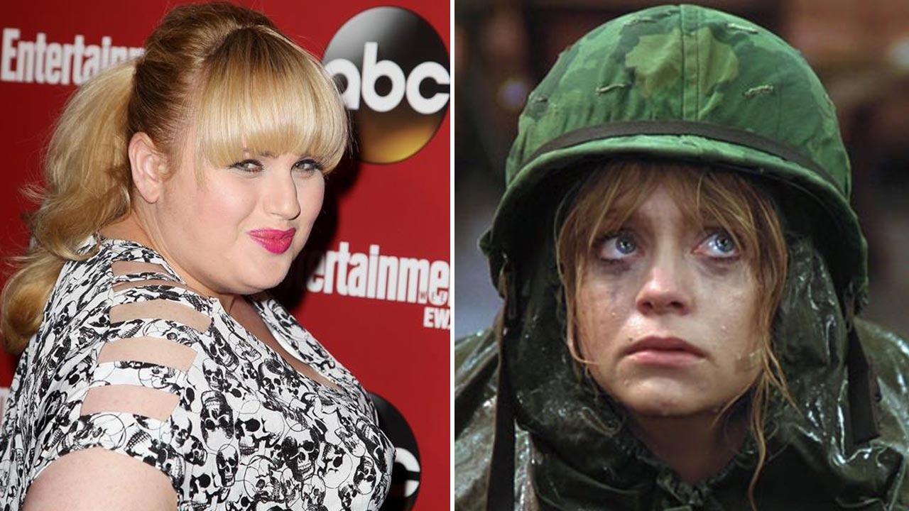 Rebel Wilson appears at the ABC New York Upfront Part on May 14, 2013.  / Goldie Hawn appears in a scene from the 1980 movie Private Benjamin.