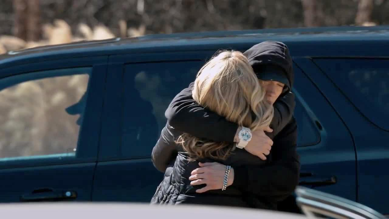 Eminem appears in his Headlights music video, which was released on May 11, 2014 -- Mothers Day -- and pays tribute to his estranged mother. The clip was directed by Spike Lee.