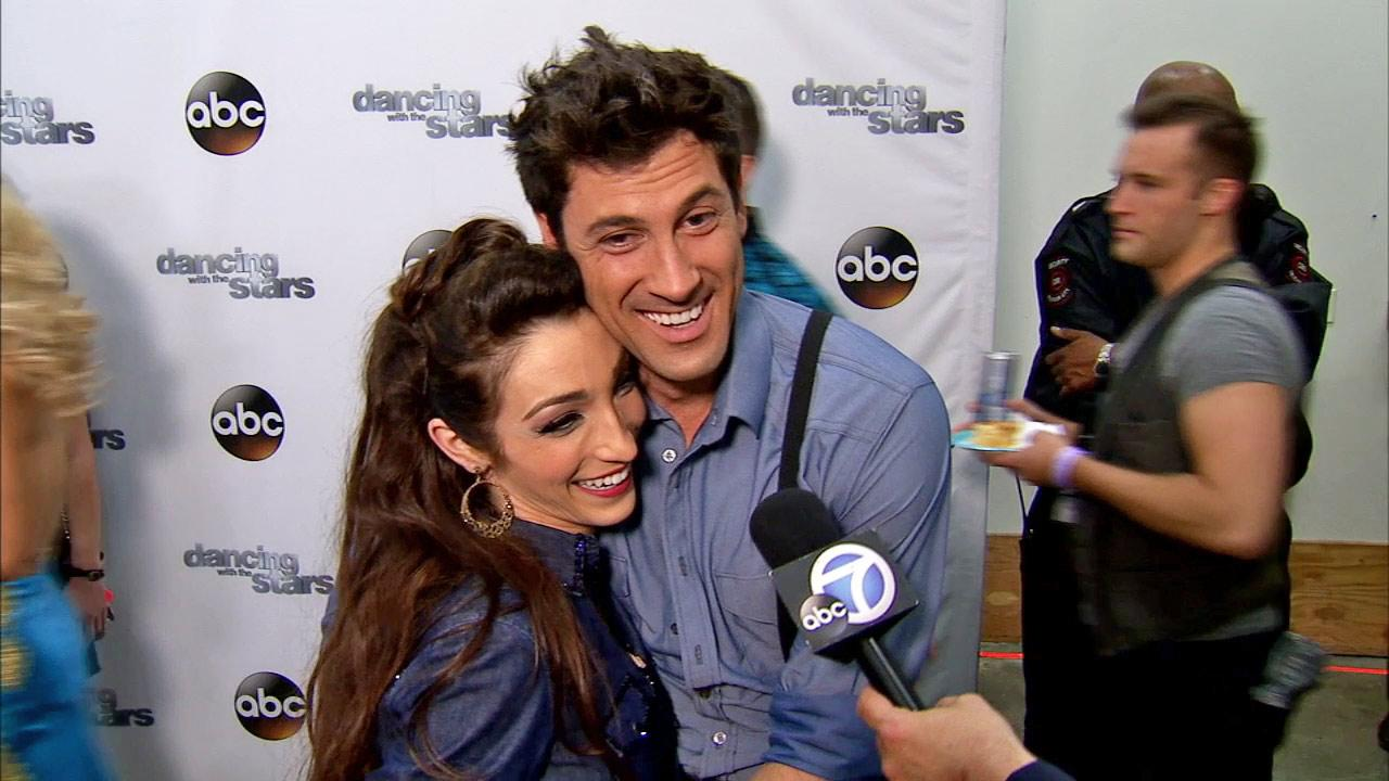 Meryl Davis and Maksim Chmerkovskiy talk to OTRC.com after week 9 on Dancing With The Stars season 18 on May 12, 2014.