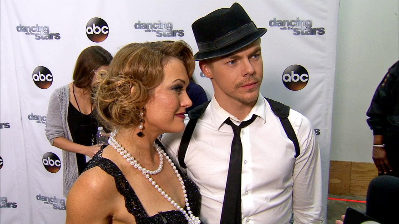Amy Purdy, Derek Hough talk to OTRC.com after week 9 on Dancing With The Stars season 18 on May 12, 2014.