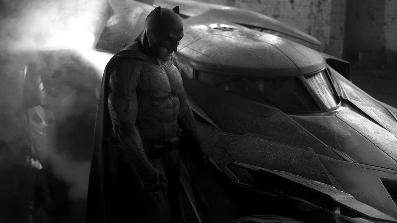 Zack Snyder shared this first-look photo of Ben Affleck as Batman in Batman vs. Superman on his Twitter page on May 13, 2014.