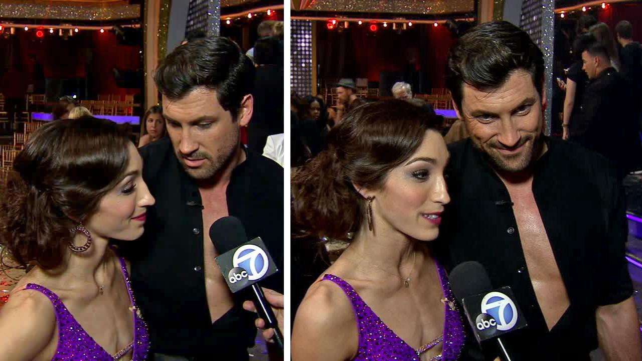 Meryl Davis, Maksim Chmerkovskiy talk to OTRC.com after winning Dancing With The Stars on May 20, 2014.