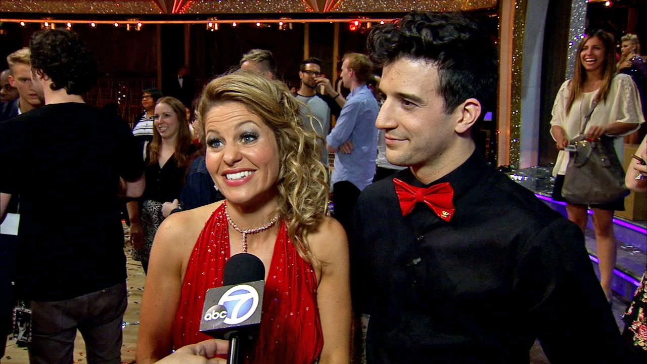Candace Cameron Bure and Mark Ballas talk to OTRC.com after week 10 on Dancing With The Stars season 18 on May 20, 2014.
