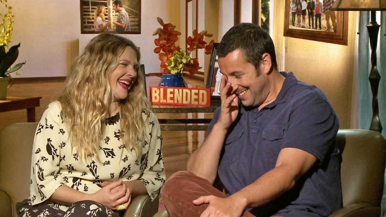 Drew Barrymore and Adam Sandler talked to OTRC.com in an interview for Blended on May 12, 2014.