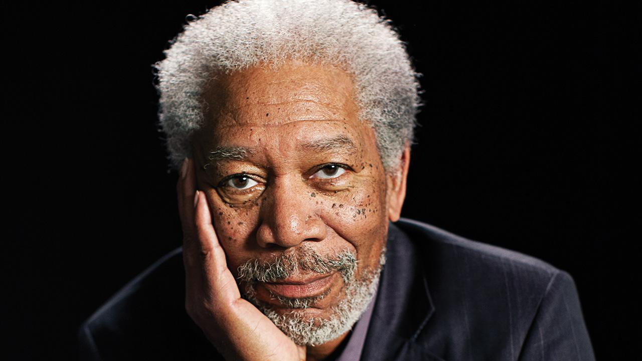 Morgan Freeman appears in a publicity photo for the Science Channel series Through the Wormhole.