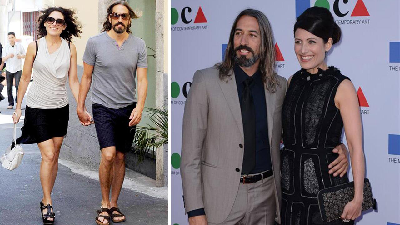 Lisa Edelstein and Robert Russell appear at the Yesssss 2013 MOCA Gala, celebrating the opening of the Urs Fischer exhibition, in Los Angeles on April 20, 2013. / The two appear on vacation in Sicily on June 24, 2012. <span class=meta>(Giulio Marcocch &#47; Maurizio D&#39;Avanzo &#47; Startraksphoto.com)</span>