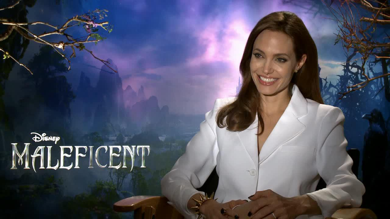 Angelina Jolie talks about Disneys Maleficent in a May 2014 interview.