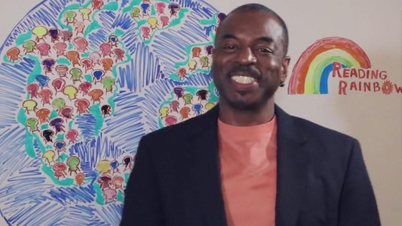 LeVar Burton appears in a Kickstarter video for Reading Rainbow, which was posted on May 28, 2014.