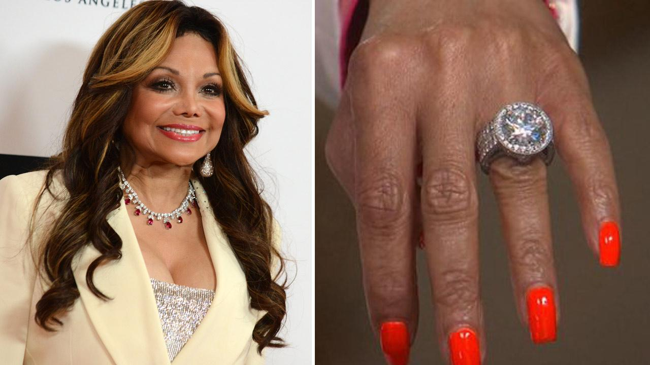 La Toya Jackson arrives at the 20th annual Race to Erase MS event Love to Erase MS on Friday, May 3, 2013, in Los Angeles. /  Jacksons engagement ring appears in her Good Morning America interview, which aired on June 4, 2014.